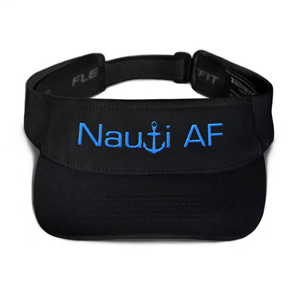 Nauti AF Visor in Black with Aqua