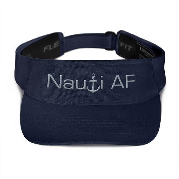 Nauti AF Visor in Navy with Grey