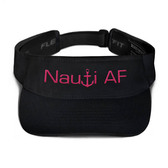 Nauti AF Visor in Black with Pink