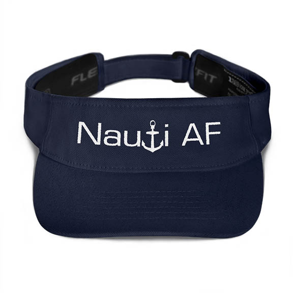 Nauti AF Visor in Navy with White