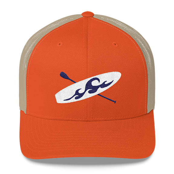 Paddleboard Trucker Hat in Orange