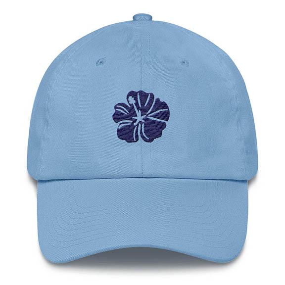 Hibiscus Carolina Blue Baseball Hat