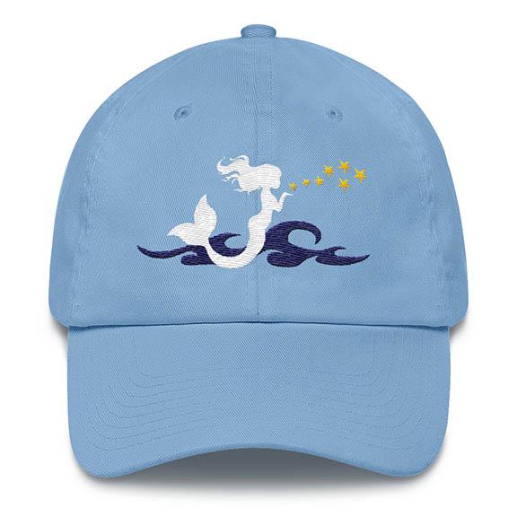 Mermaid Kisses Baseball Hat Carolina-Blue